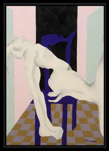 Nu à la chaise violette