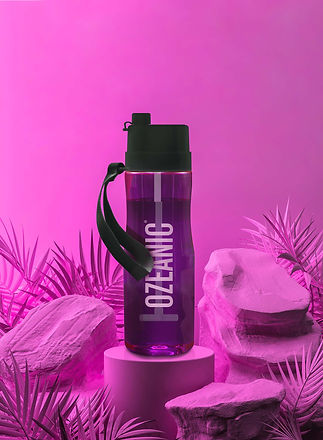 Ecobottle Ozeanic botella que purifica el agua color rosa