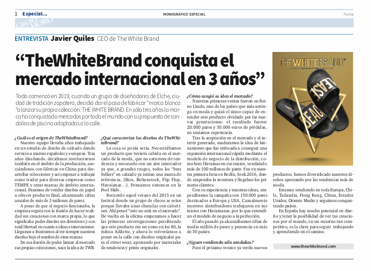 Gerard Moreno | Diseñador gráfico y fotógrafo freelance | Nota de prensa de thewhitbrand