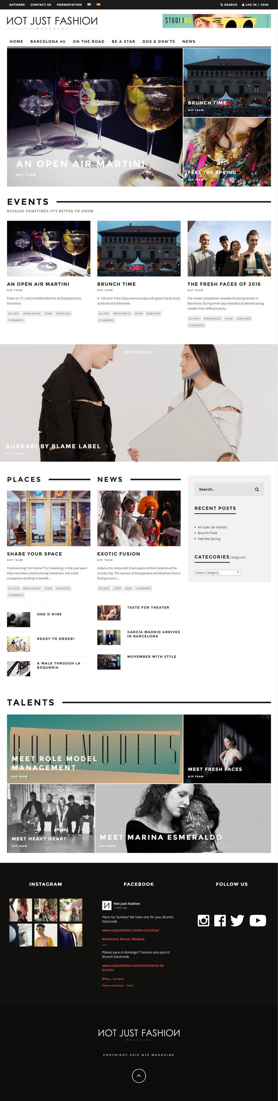 Gerrd Moreno |Diseñador gráfico y fotógrafo freelance | Diseño web para Notjustfashion magazine