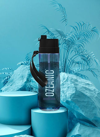 Ecobottle Ozeanic botella que purifica el agua color azul