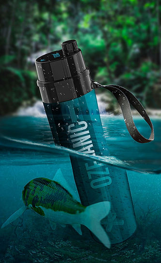 Ozeanic botella purificadora de agua sin filtros y con batería.