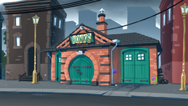Honk's workshop exterior