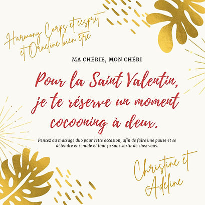 Saint Valentin Massage DUO