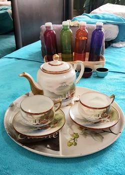 Cabinet table massage thé détente