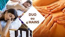 massage DUO ou 4 mains