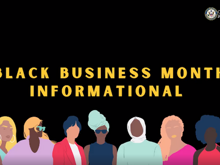 Black Business Month Small Business Roundtable 9/3/20