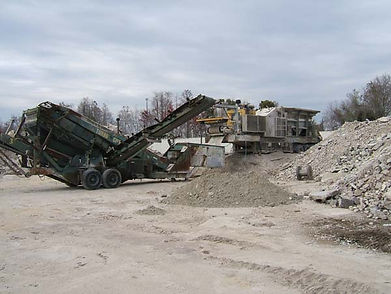 concrete recycling crusher