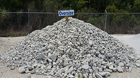 rip rap oversised cruhed concrete