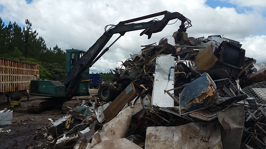 metal recycling loader