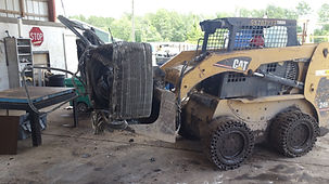 loader with A/C coils