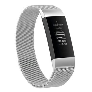 Stainless Steel Fitbit Charge 3 & 4 Replacement Band