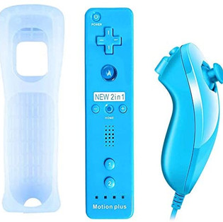 Built-in Motion Game Control with Silicon Case for Wii and Wii U