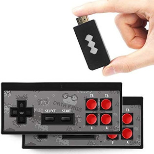 Built-in Video Game Console & Wireless Controllers
