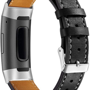 Leather Fitbit Charge 3 & 4 Replacement Band