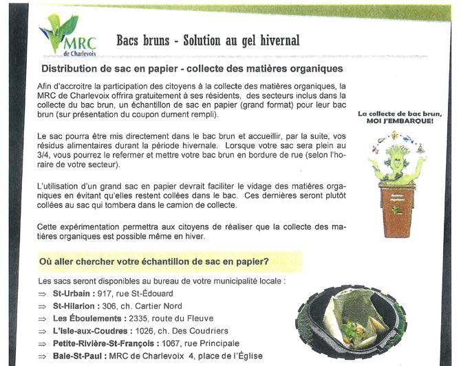 Distribution de sac de papier- Bacs bruns