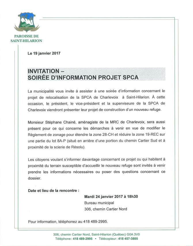 Invitation-Soirée d'information
