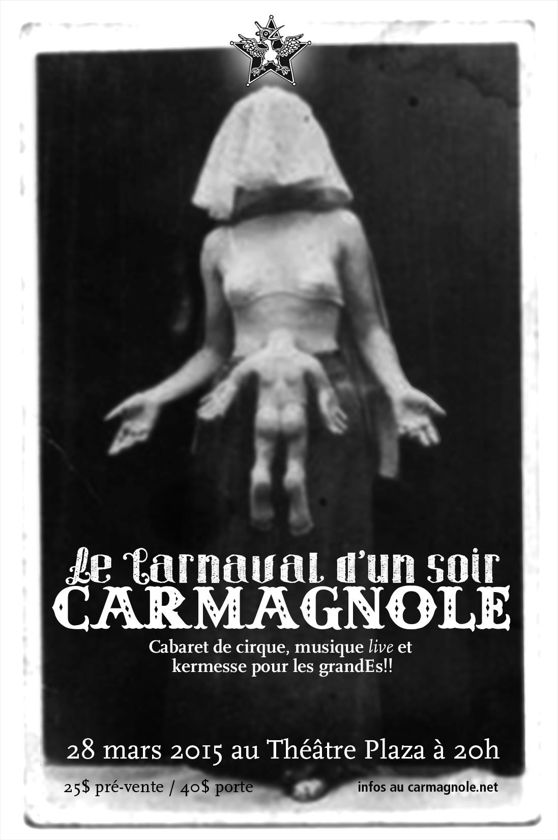 Flyer du cabaret Carmagnole 2015