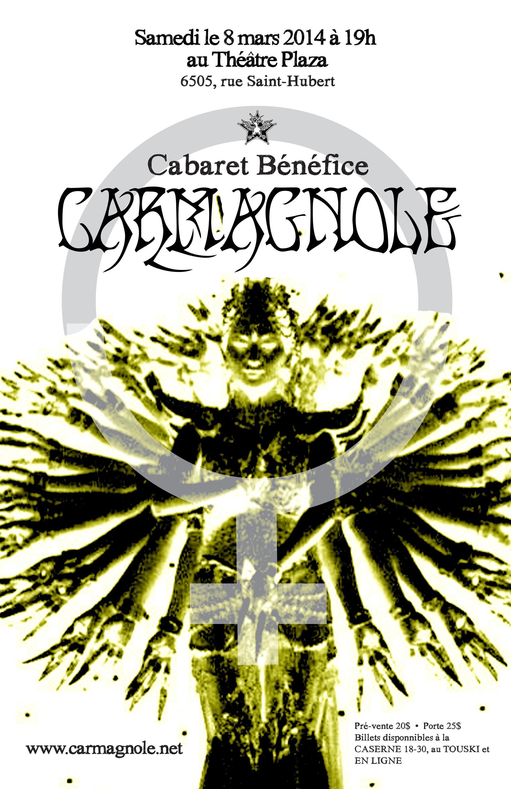 Affiche du cabaret Carmagnole 2014