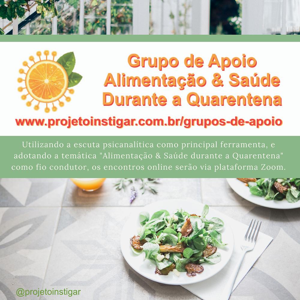 Grupo de Apoio Alimentação & Saúde durante a Quarentena
