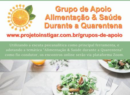 Grupo de Apoio: Alimentação & Saúde durante a Quarentena