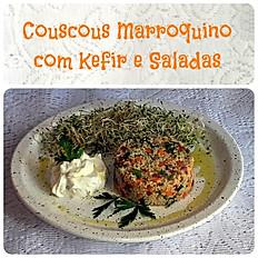 Couscous Marroquino com kefir e salada