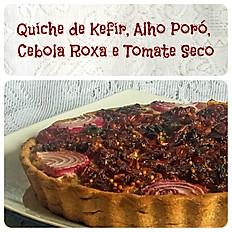 Quiche de Tomate Seco Cebola Roxa Alho Poró