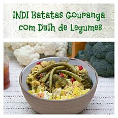 INDI Batatas Gouranga com Dalh de Vagem, Brocolis