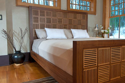 Walnut and Oak Bed / Reid Dalland Photography