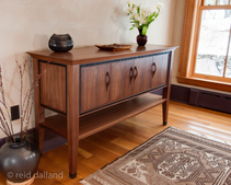 Walnut and Ebony Sideboard