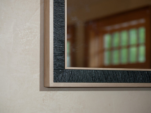 Maple and Ebony Mirror Detail / Reid Dalland Photography