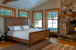 Oak and Walnut Bed / Reid Dalland Photography