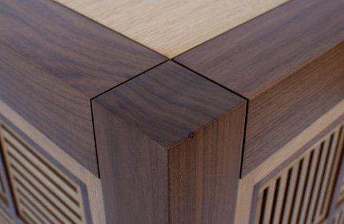 Detail Walnut and Oak Chest / Reid Dalland Photography