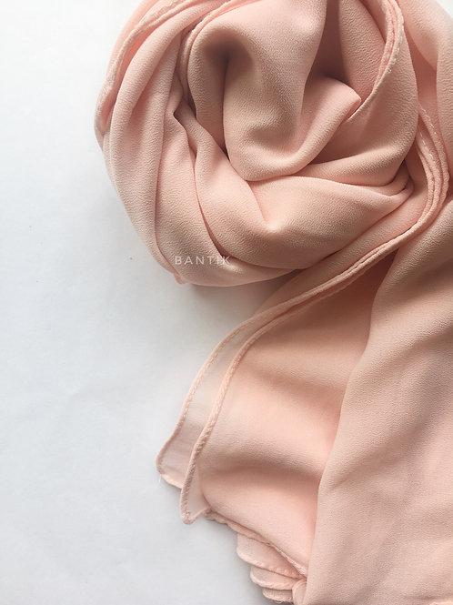 ROSE PASTEL châle mousseline