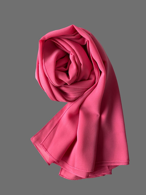 ROSE FUSCHIA HIJAB MOUSSELINE