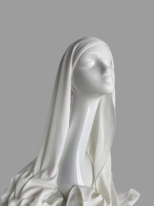 Hijab à enfiler crème