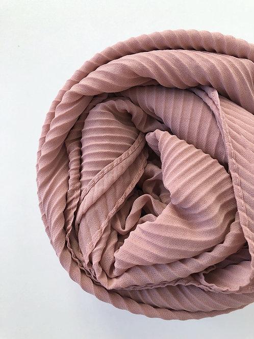 Châle mousseline plissé NUDE