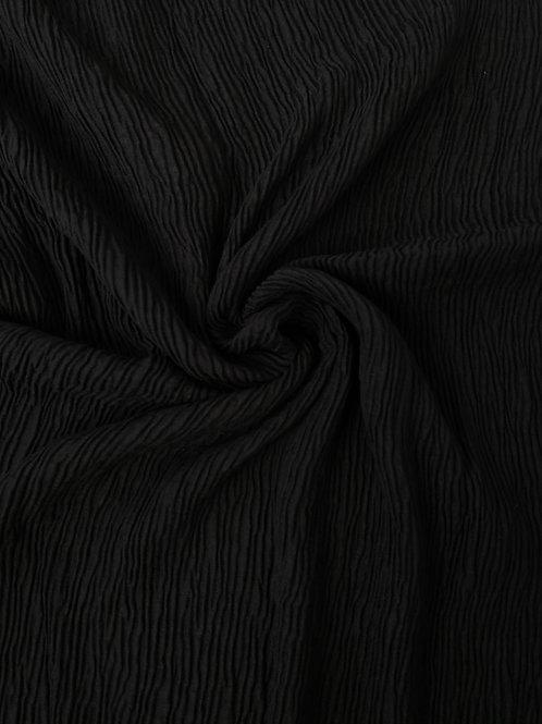 Écharpe plissée viscose Noir
