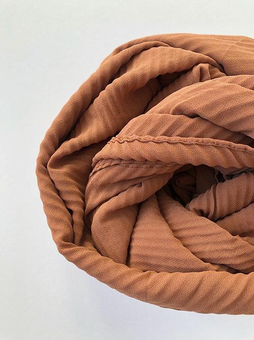 Châle mousseline plissé CARAMEL