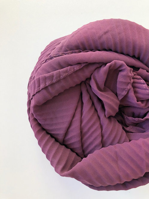 Châle mousseline plissé VIEUX ROSE