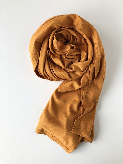 Hijab jersey premium MOUTARDE