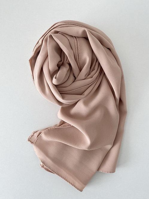 Châle mousseline opaque ROSE POUDRÉ