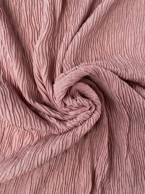 Écharpe plissée viscose Violet pastel