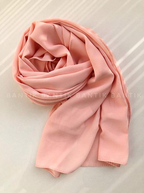 Châle mousseline opaque ROSE PASTEL