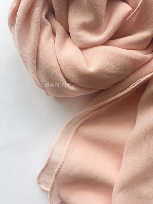 XL ROSE PASTEL Châle mousseline