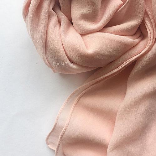 XL ROSE PASTEL Châle mousseline