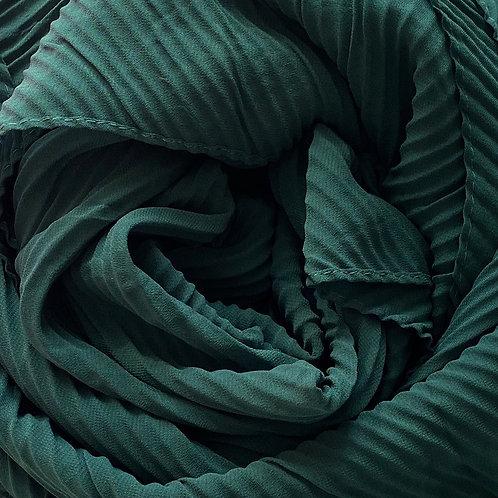 Châle mousseline plissé VERT SAPIN
