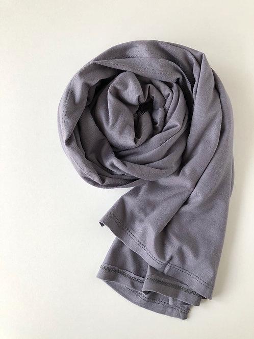 Hijab jersey premium GRIS FONCÉ