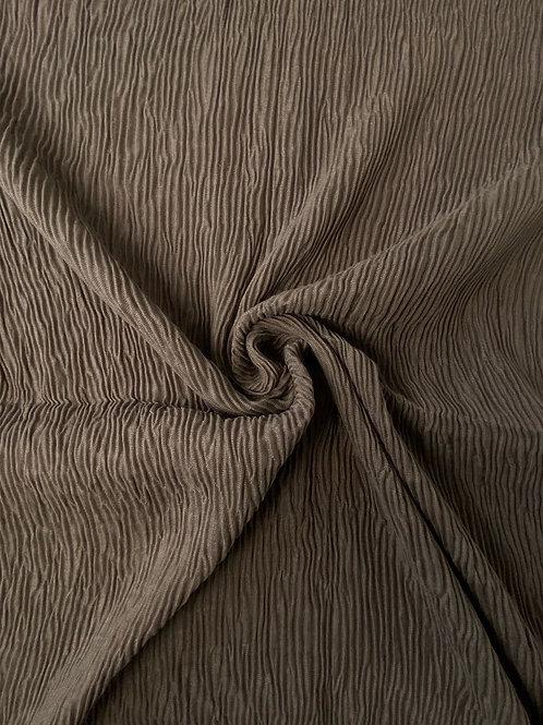 Écharpe plissée viscose Taupe