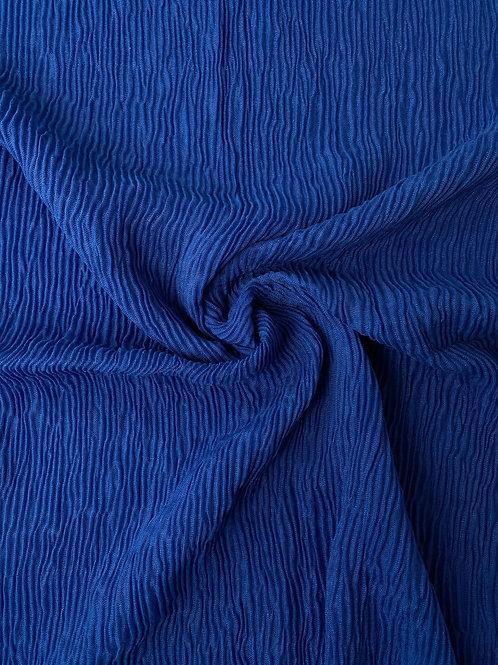 Écharpe plissée viscose Bleu